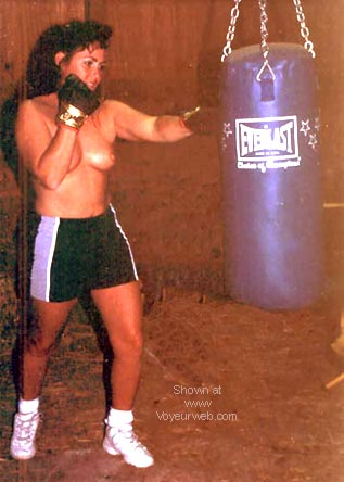 Pic #1 JayLee hitting the bag and talking