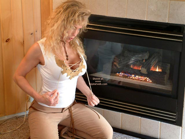 Pic #1 Warming My Titties By The Fire