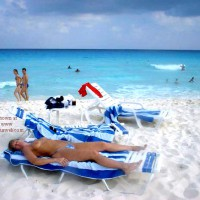 Purple Patty's Blue Bikini Topless