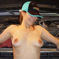 Full Frontal Topless - Erect Nipples, Hat, Large Aerolas, Perky Tits, Topless , Full Frontal Topless, Naked With A Truck Driver Hat, Erect Nipples, Large Aerolas, Perky Tits