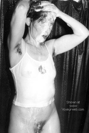 Pic #1 Pretty Wife Wet (B&W)