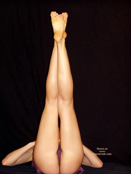 Kilometric Legs - Leg Up , Kilometric Legs, Legs Up, Intraviewed Pussy, All Smiles, Purple Teddy, Legs In Air