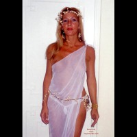 Party Timers - Blonde Hair, G String, Nipples, See Through , Party Timers, See Through, G String, Nipple Peek, See Thru Toga, See Thru Fairy, Blonde, Toga, Garlands