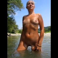 Nude Girl Outdoors - Small Tits , Nude Girl Outdoors, Camping, River, Small Tits, Outdoors In Lake, Naked In Nature