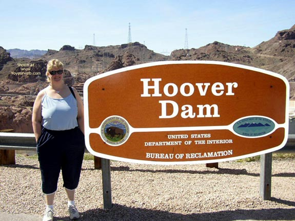 Pic #1 Wife At Hoover Dam