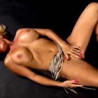 Large Breasts - Erect Nipples, Large Breasts, Touching Pussy , Large Breasts, Touching Pussy, Studio Shot, Cowboy Boots, Red Fingernails, Erect Nipples, Big Western Boobs