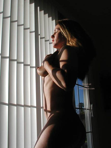 Naked Blonde - Erect Nipples, Huge Tits, Perky Nipples , Naked Blonde, Sunlight Through Window, Perky Nipples, Naked In Front Of Window, Grabbing Her Tits, Erect Nipples, Art Pose, Large Boobs, Eyes Closed, Flashing Patio Window, Made In The Shade