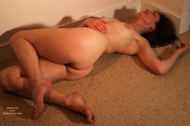 Brunette - Brunette Hair, Nude Amateur , Brunette, Twisted, Naked In The Carpte, Tan Carpet Nude, Laid Back