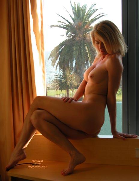 Shy Blonde On The Window - Blonde Hair , Shy Blonde On The Window, Demure Blonde, Tropical Setting