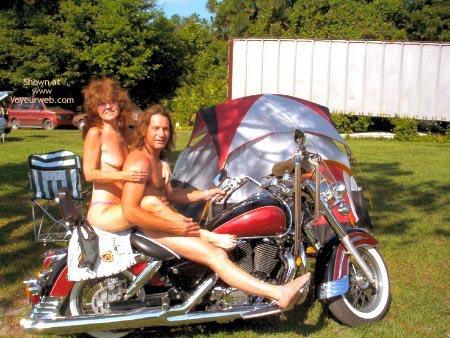 Butt naked biker bash