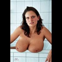 Boobs on table nude