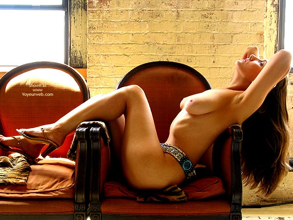 Long Hair Brunette - Long Hair, On The Couch , Long Hair Brunette, Large Areoles, Draped Over A Chair, Lush On Couch, Long Haired Brunnet Relaxing, Penthouse Pose, High Heel Sandals