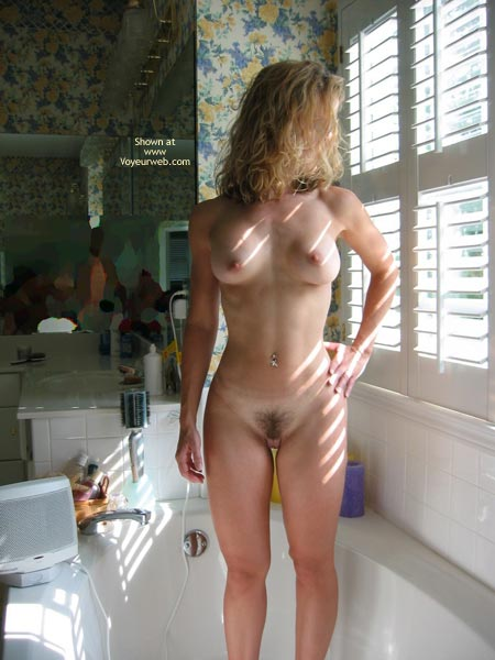 Belly Button Ring - Navel Piercing, Perky Tits, Tan Lines , Belly Button Ring, Tan Lines, Perky Breasts, Standing In The Tub