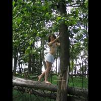 Slavegirl Penny  Climbing The Tree