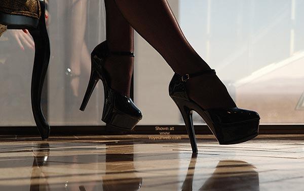 Black Stockings - Heels, Stockings , Black Stockings, High Heels, Artsy High Heel Shot