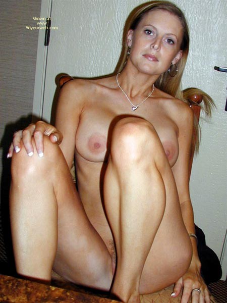 Blonde Hair - Blonde Hair, Huge Tits, Leg Up , Blonde Hair, Sitting Naked On Chair, Huge Tits, Just Hang Around, Sitting Whit Legs Up, Looking At Camera