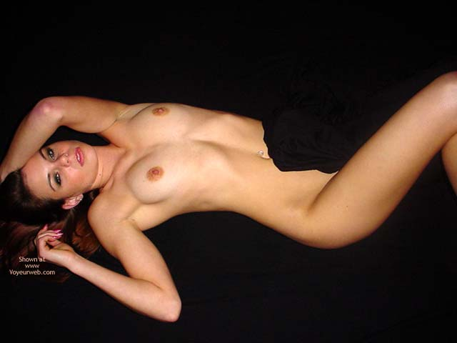Face Up And Tities , Face Up And Tities, Naked Girl Lying On Her Back, Curves