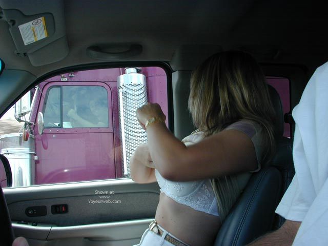Pic #1 Candi Keeping The Trucker'S Happy