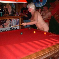 Tammy Playing Pool With Friends