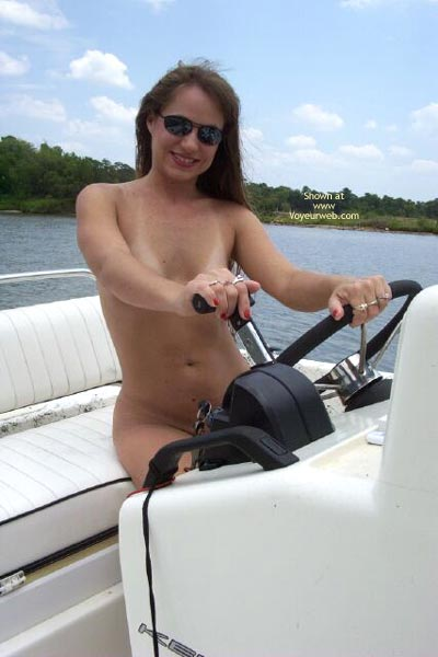 Pic #1 Amber Takes A Ride On Adams Boat