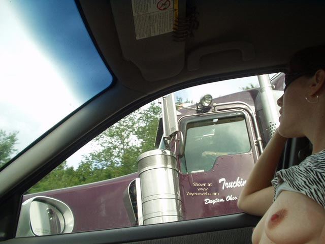 Pic #1 Amy Flashing Trucks And Shopping For Toys