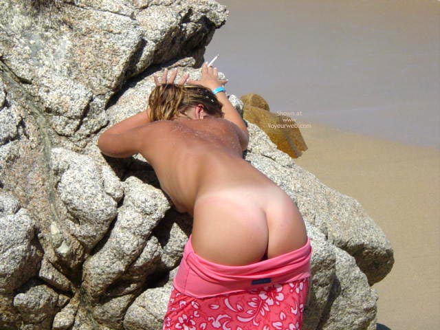 Girl Flashing Her Ass Outdoors - Bend Over, Rear View, Tan Lines , Girl Flashing Her Ass Outdoors, Rear Shot, Ass Showing, Bent Over, Tan Lines