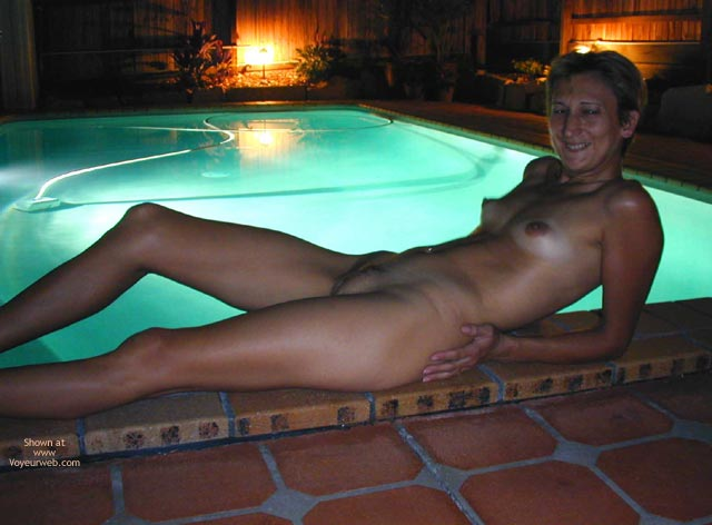 Pic #1 Claudia At Friend'S Pool 2
