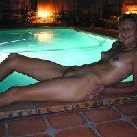 Claudia At Friend'S Pool 2