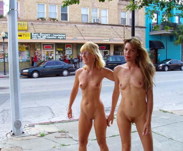 Two Girls Walking Nude - Nude In Public , Two Girls Walking Nude, Naked Friends, Exhibitonist Girls, Nude On Public Street