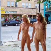Two Girls Walking Nude - Nude In Public , Two Girls Walking Nude, Naked Friends, Exhibitonist Girls, Nude On Public Street