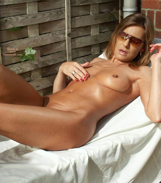 Tanning Fun - Erect Nipples, Fun, Sunglasses , Tanning Fun, Small Tits  Erect Nipples, Sunglasses, Chocolate Nips
