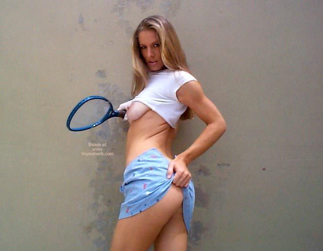 Long Blonde Flashing Tit - Blonde Hair, Skirt , Long Blonde Flashing Tit, Tennis Tits And Ass, Athletic Blonde, Blue Mini Skirt, Flashing Tit, Nude Tennis, Sport Shot, Playing Sports