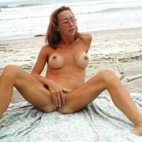 Breast Implants - Nude Beach, Spread Legs, Tan Lines , Breast Implants, Nude On Beach, Tanlines, Spread Legs