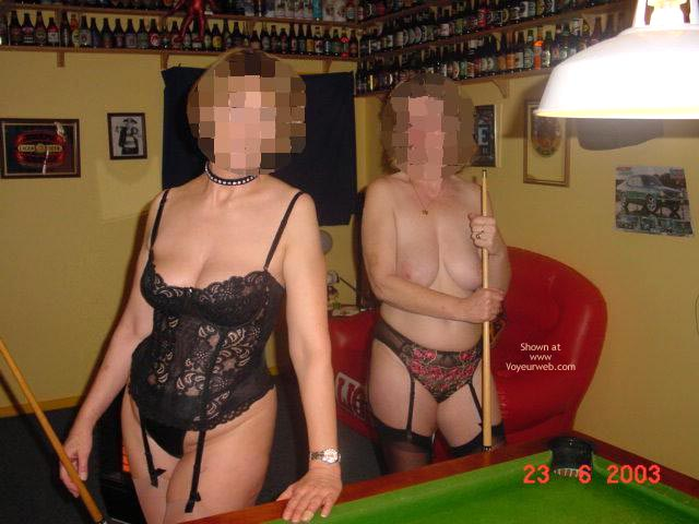 Pic #1 Tigerlady And Friend Play Pool P2