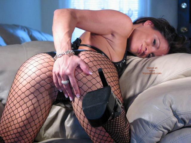 Fishnet - Doggy Style, Fishnet, Heels, On The Couch , Fishnet, High Heels, Black Fishnets, View From Behind, Platform Heels, Doggy Style, On Couch