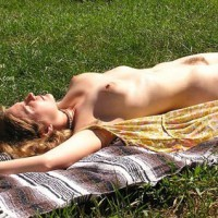 Bush - Hairy Bush, Nude Outdoors, Sunbathing , Bush, Outdoors, Lying Flat, Sunbathing, Nude Outdoors, Open Dress