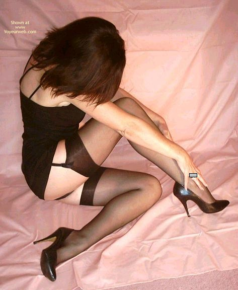 Non-nude - Black Hair, Heels, Stockings, Sexy Shoes , Non-nude, Black Stockings, Little Black Dress, No Face Visible, Black Hair, High Heels, Black Shoes