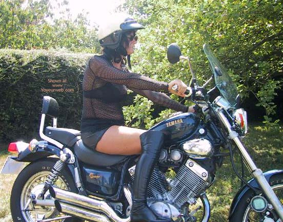 Pic #1 Maeva The French Girl And Its Motor Bik