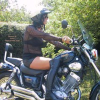 Maeva The French Girl And Its Motor Bik