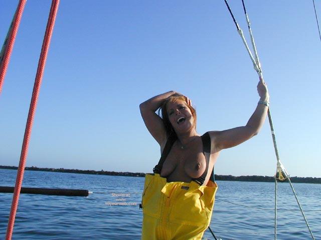Topless Girl On Boat , Topless Girl On Boat