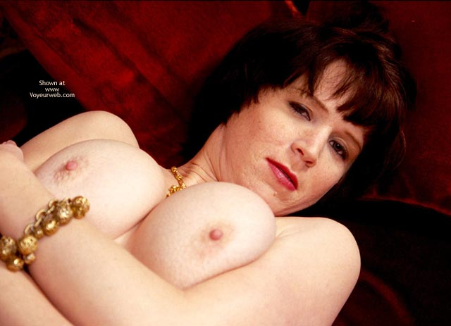 Lying On Her Back , Lying On Her Back, Pushing Up Her Tits, Medium-large Rounders, Pushed Together Supine