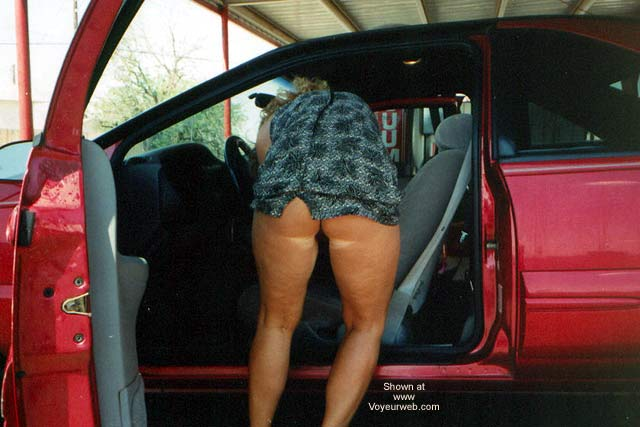 Pic #1 The Wifey Cleaning The Car