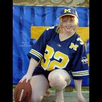 Redheaded Michigan Fan, Go Blue!!