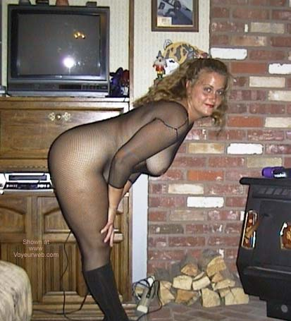 Pic #1 Leslie in Black Bodystocking 3