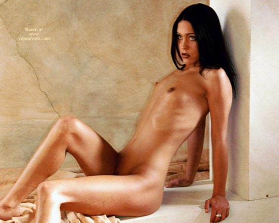 Small Dark Nipples - Black Hair, Dark Nipples , Small Dark Nipples, Black Hair, Nude Girl Sitting, Very Tiny Tits, Nude Brunette Sitting Against Column