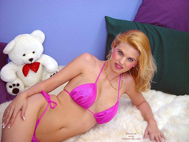 Pic #1 Pink Bikini, Alpaca Rug And Bare Puss