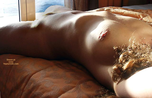 Female Torso On A Bed - Bed , Female Torso On A Bed, Sun Dried Fruit, Light Play, Goose Pimples, Reclining