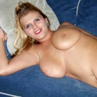 Pretty Smile - Big Tits, Blonde Hair, Lying Down, Navel Piercing , Pretty Smile, Blonde Hair, Lying On Bed, Big Boobs, Pierced Bellybutton, Soft Breasts