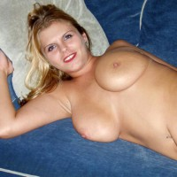 Pretty Smile - Big Tits, Blonde Hair, Lying Down, Navel Piercing , Pretty Smile, Blonde Hair, Lying On Bed, Big Boobs, Pierced Bellybutton, Soft Breasts