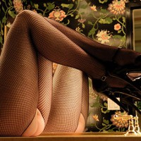 Black Fishnet Stockings , Black Fishnet Stockings, Twice The Legs, Mirror Treat, Patent Leather, Stilletto Heels, Crotchless Fishnet Pantyhose